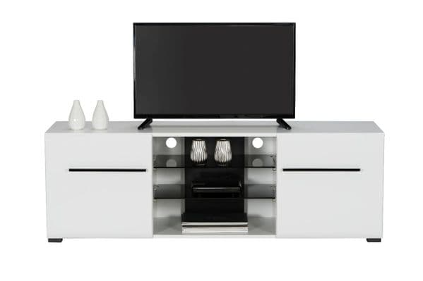 Trinity Large Tall White Gloss TV Cabinet for upto 65inch TV